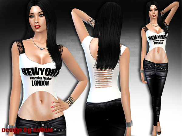 Sims 4 New York Charming Full Outfit by Saliwa at TSR