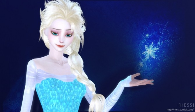 Frozen Elsa Poses At Hess 187 Sims 4 Updates