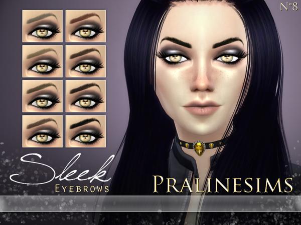 Sims 4 Sleek Eyebrows by Pralinesims at TSR