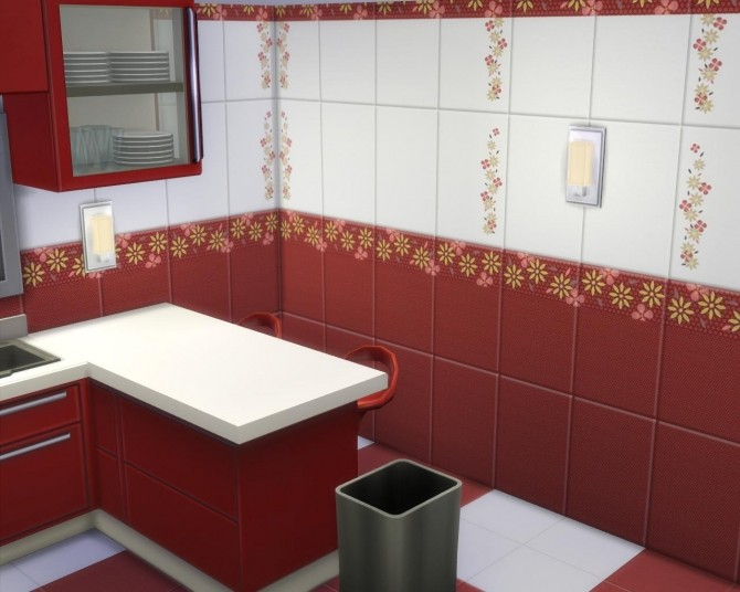 Red tile set by AdeLanaSP at Mod The Sims image 6116 670x536 Sims 4 Updates