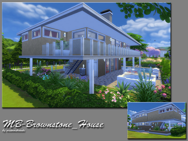 MB Brownstone House by matomibotaki at TSR image 6117 Sims 4 Updates