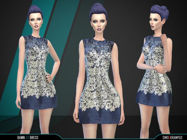 Sims 4 Dawn Dress by SIms4Krampus at TSR