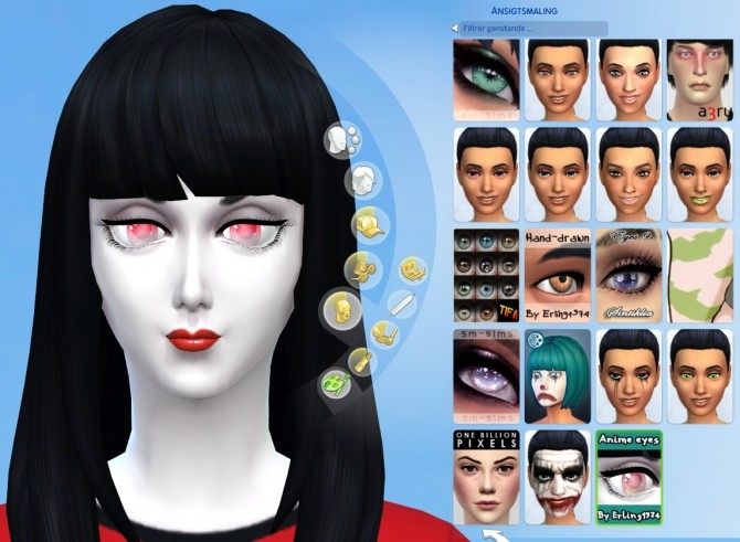 Sims 4 Anime Characters Mod : Anime inspired eyes by erling at mod the sims
