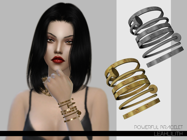 Sims 4 Powerful Bracelet by Leah Lillith at TSR
