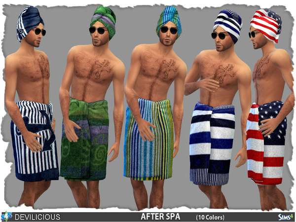 Sims 4 After Spa Towelset for Males by Devilicious at TSR