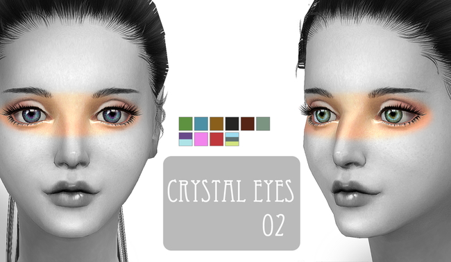 Sims 4 Crystal eyes 02 at ChiisSims – Chocolatte Sims