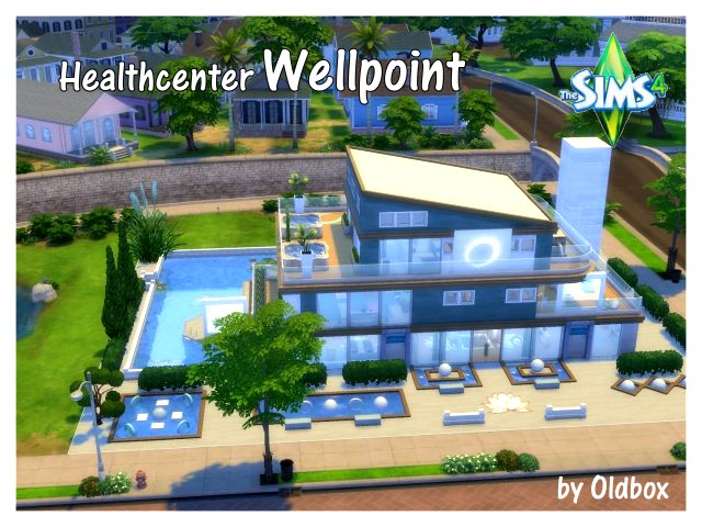 Sims 4 Wellpoint center by Oldbox at All 4 Sims