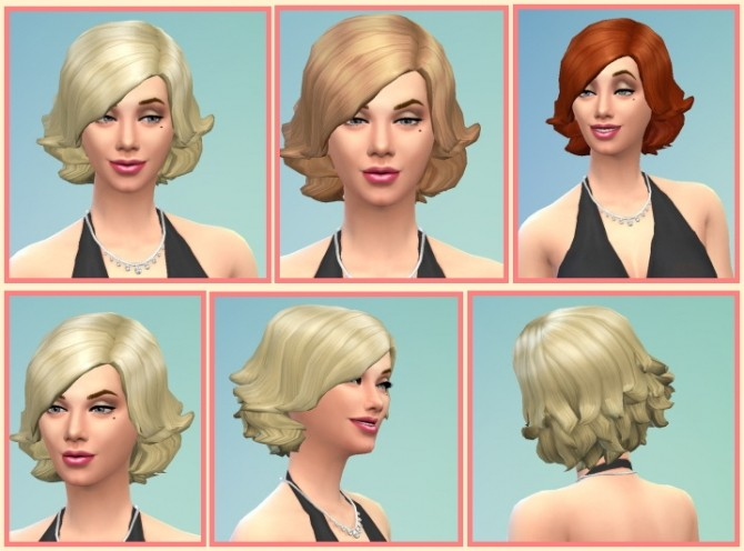 Sims 4 Short Swept Hair for Ladys at Birksches Sims Blog