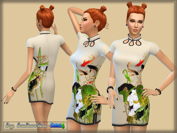 Dress Asia by bukovka at TSR image 694 Sims 4 Updates