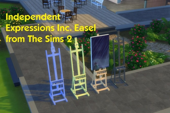 Independent Expressions Inc. Easel from The Sims 2 by simmythesim at Mod The Sims image 701 670x445 Sims 4 Updates