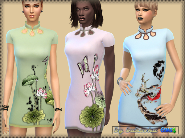 Dress Asia by bukovka at TSR image 704 Sims 4 Updates