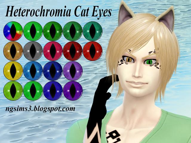Heterochromia Cat Eyes At Ng Sims3 187 Sims 4 Updates