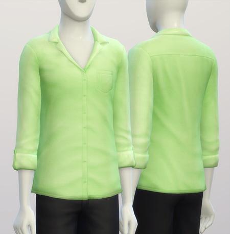 Sims 4 Oversized shirt M V1 solid at Rusty Nail