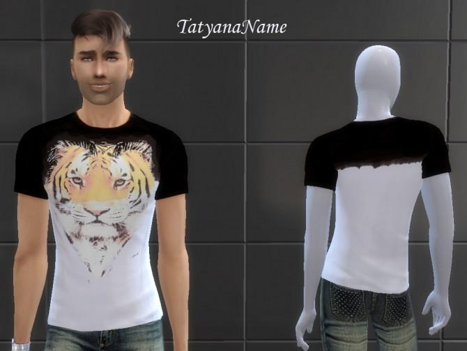 Sims 4 T shirt with tiger at Tatyana Name