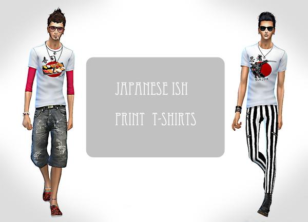 Japanese ISH print t shirts at ChiisSims – Chocolatte Sims image 733 Sims 4 Updates
