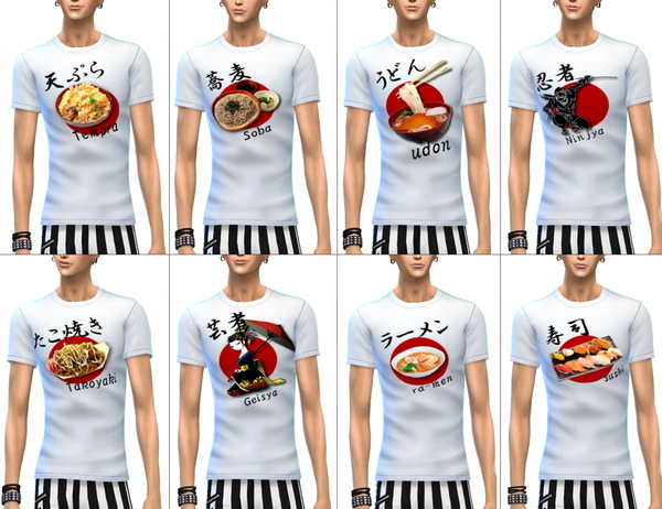 Japanese ISH print t shirts at ChiisSims – Chocolatte Sims image 743 Sims 4 Updates