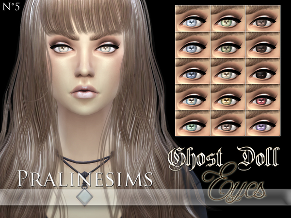 Sims 4 Ghost Doll Eyes by Pralinesims at TSR