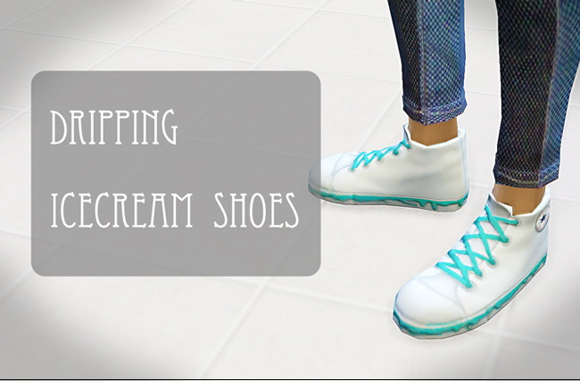 Dripping icecream shoes at ChiisSims – Chocolatte Sims image 753 Sims 4 Updates