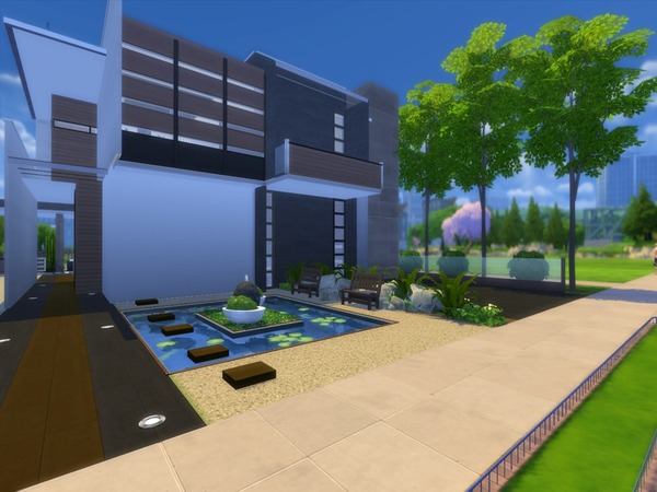 Sims 4 Modern Zen house by Suzz86 at TSR