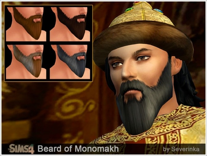 Monomakhs crown and beards at Sims by Severinka image 7718 670x505 Sims 4 Updates