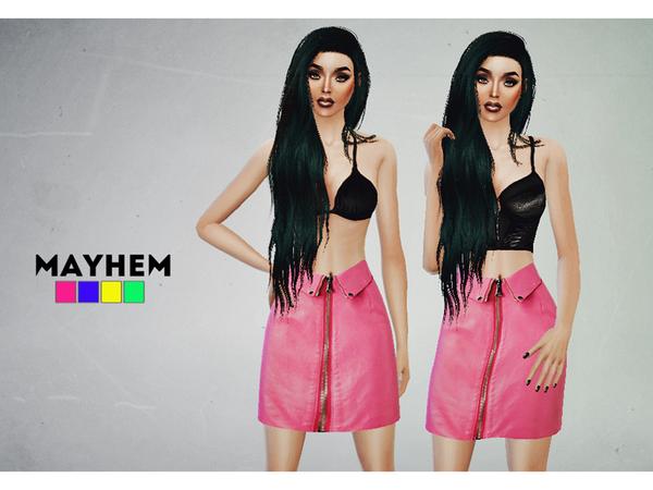 Sims 4 Cherry Bomb Skirt by NataliMayhem at TSR