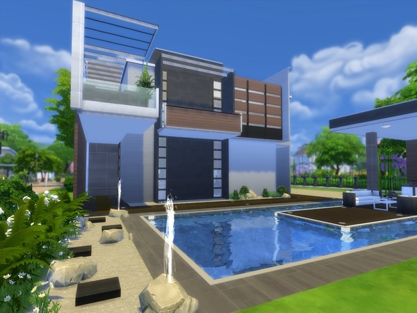 Modern zen house by suzz86 at tsr sims 4 updates - The sims 3 case moderne ...