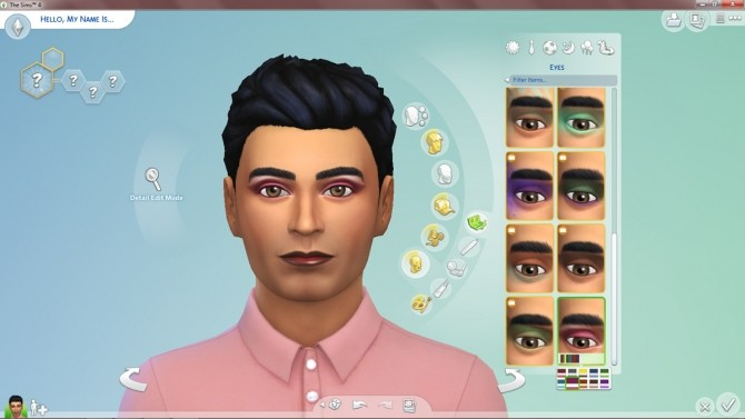 Sims 4 Exciting Contours Eyeshadow by Simmiller at Mod The Sims