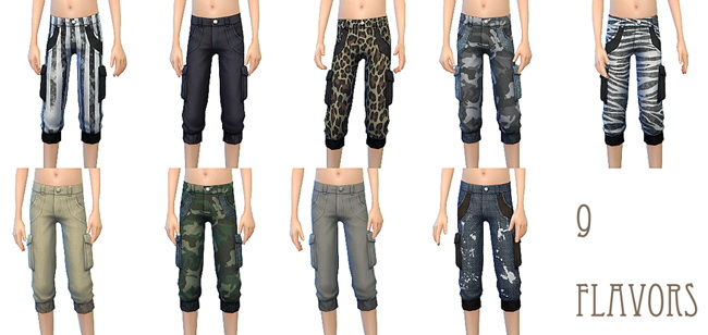 Sims 4 Cargo pants for boys at ChiisSims – Chocolatte Sims