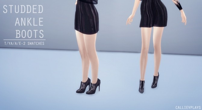 Sims 4 Studded ankle boots at CallieV Plays