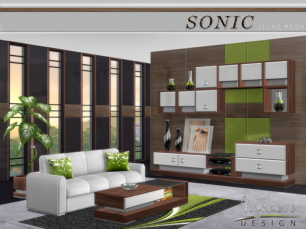 Sonic Living Room by NynaeveDesign at TSR image 8103 Sims 4 Updates