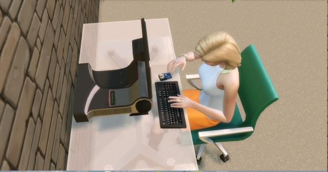 Sims 4 Little Sister WD15 Computer by AdonisPluto at Mod The Sims