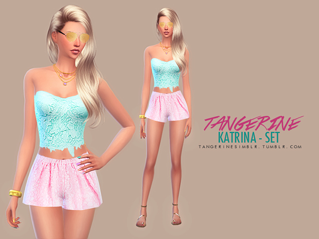 Katrina set by tangerine at Sims Fans image 857 Sims 4 Updates