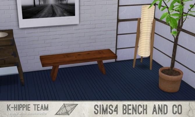 Sims 4 7 Benches Zen Serie vol 1 at K hippie