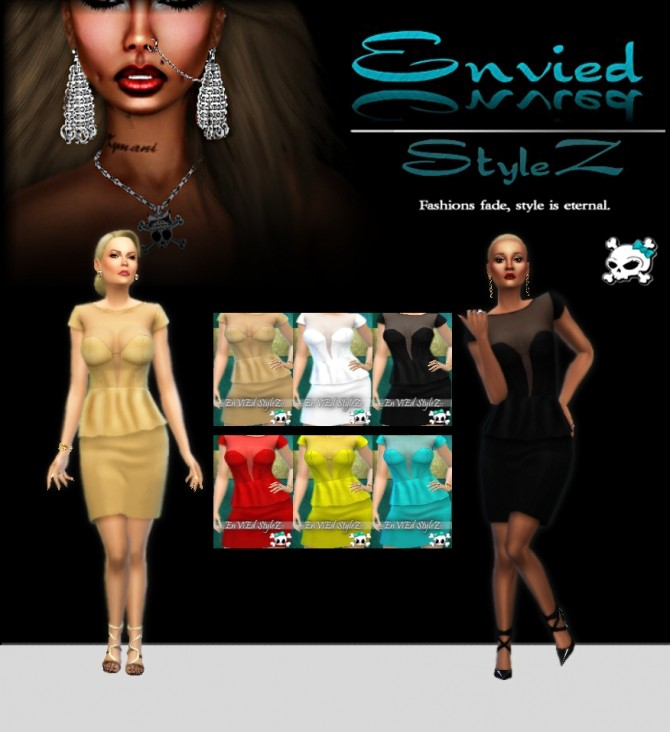 Peplum Eve Dress by MzEnvy20 at Mod The Sims image 874 670x732 Sims 4 Updates