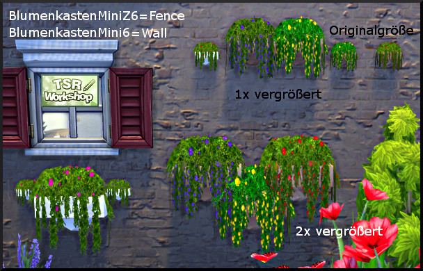 Sims 4 Various flower boxes by Christine1000 at Sims Marktplatz