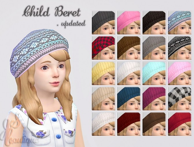 Update Child Berets at JSBoutique image 8817 670x509 Sims 4 Updates