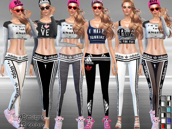 Sport Low-Rise Leggings by Pinkzombiecupcakes at TSR ...