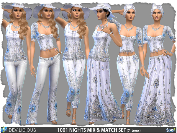 Sims 4 1001 Nights Mix n Match Set by Devilicious at TSR
