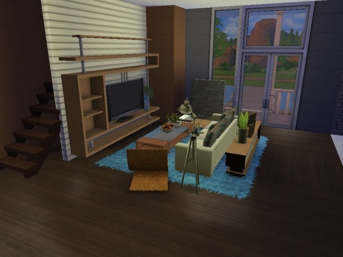 Sims 4 Modern American style house by lalucci at Mod The Sims