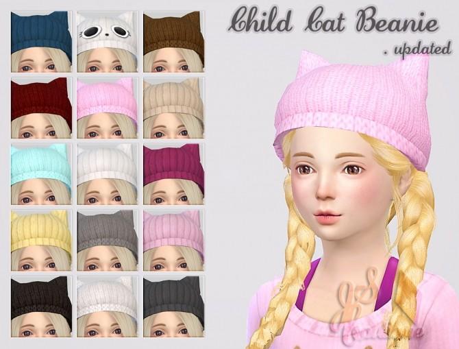 Sims 4 Child Cat Beanies at JSBoutique