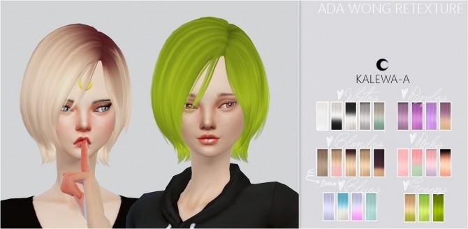 Sims 4 Ada Wong Hair Re texture at Kalewa a