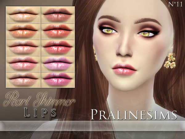 Sims 4 Pearl Shimmer Lip Duo by Pralinesims at TSR