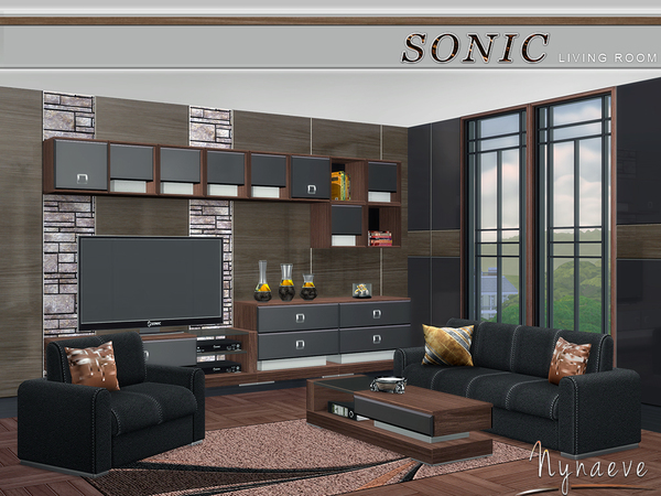 Sims 4 Sonic Living Room by NynaeveDesign at TSR