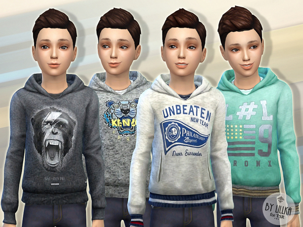 Sims 4 Hoodie for Boys P03 by lillka at TSR