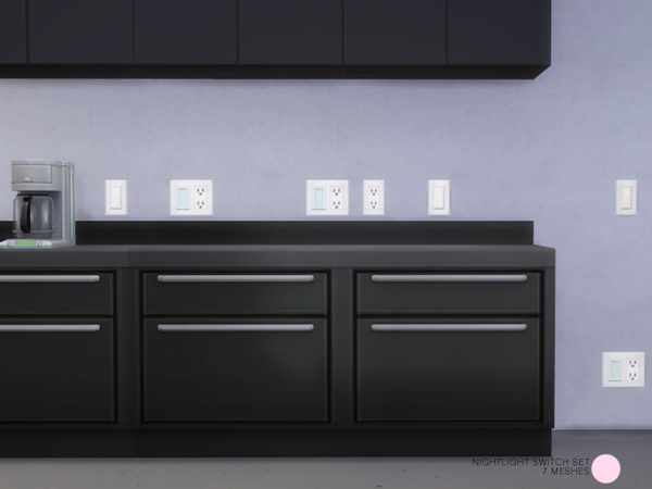 Sims 4 Nightlight Switch Set by DOT at TSR