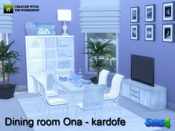 Ona diningroom by kardofe at tsr sims 4 updates for Dining room ideas sims 4