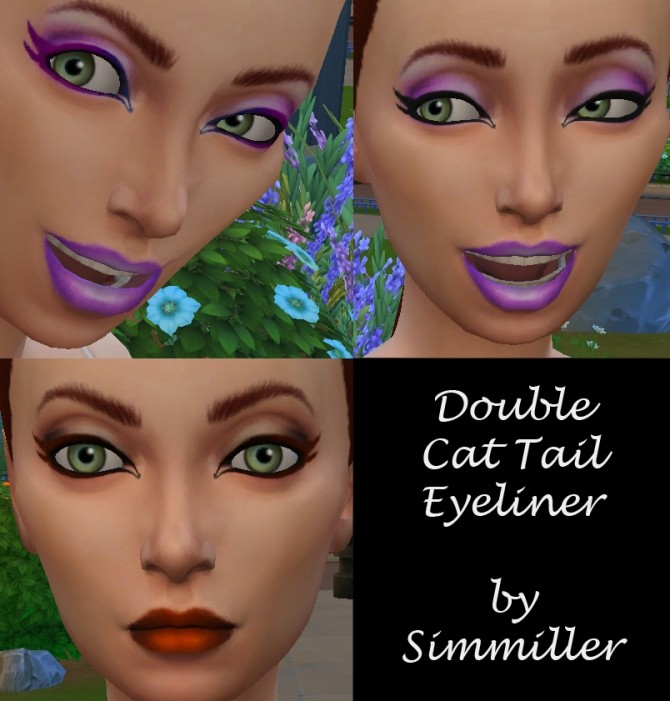 Eyeliner Double Cat Tail by Simmiller at Mod The Sims ...