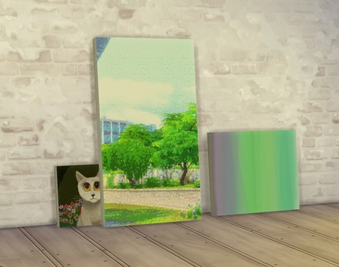 Painting Wall Holder Lean Anywhere by plasticbox at Mod The Sims image 9416 670x528 Sims 4 Updates