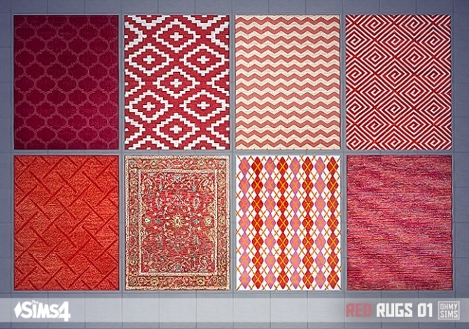 Red Rugs 01 At Oh My Sims 4 187 Sims 4 Updates