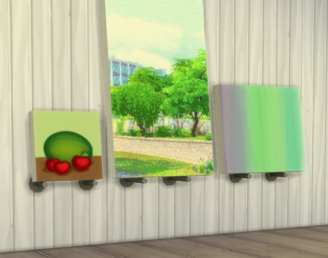Painting Wall Holder Lean Anywhere by plasticbox at Mod The Sims image 9517 670x528 Sims 4 Updates